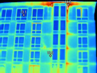 Exterior Building Thermal Image