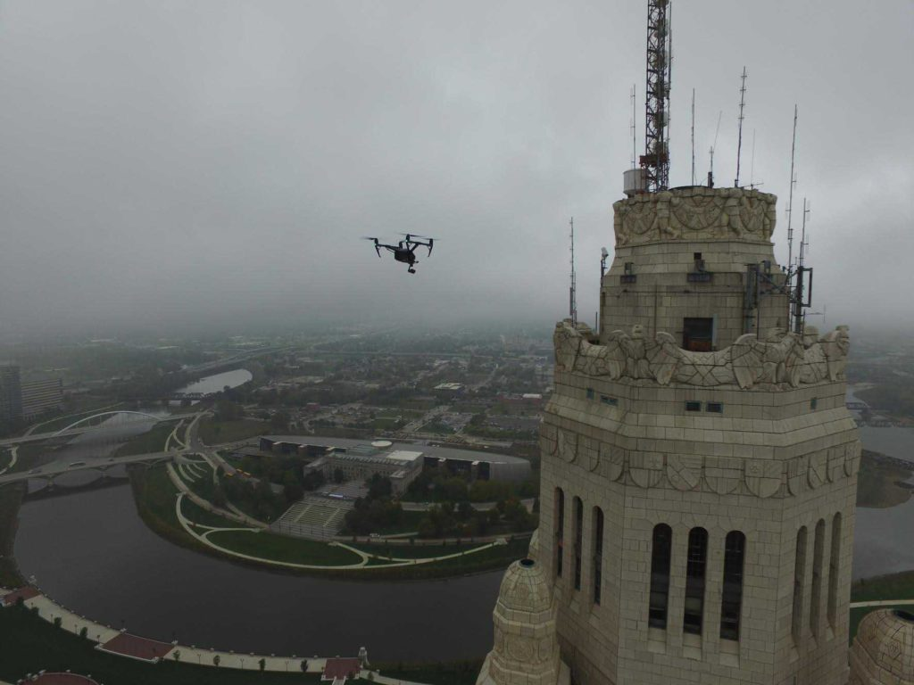 LeVeque Tower Drone Inspection