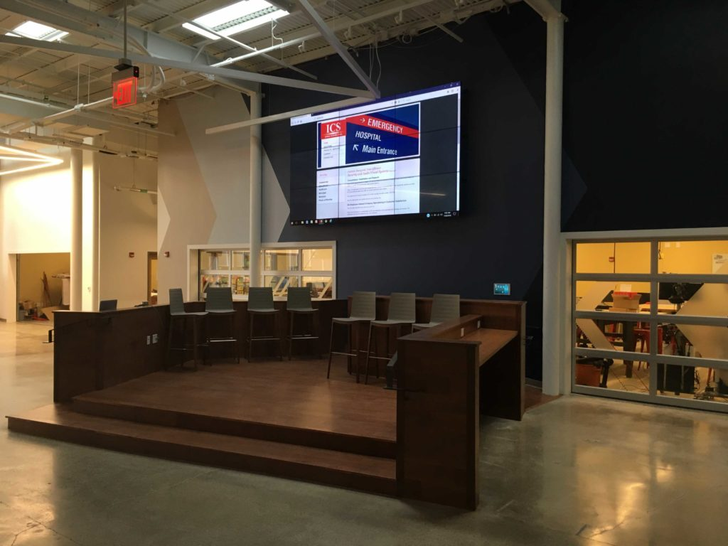 The Point at Otterbein University network and video wall ICS