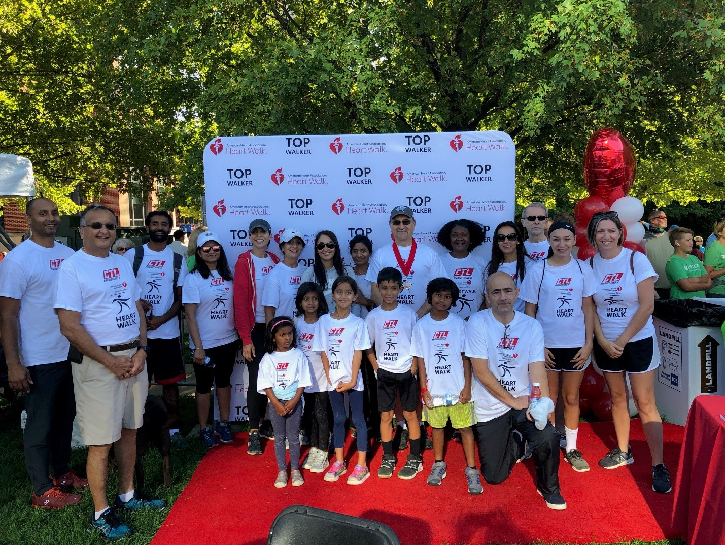 Walkers from CTL for the Central Ohio Heart Walk