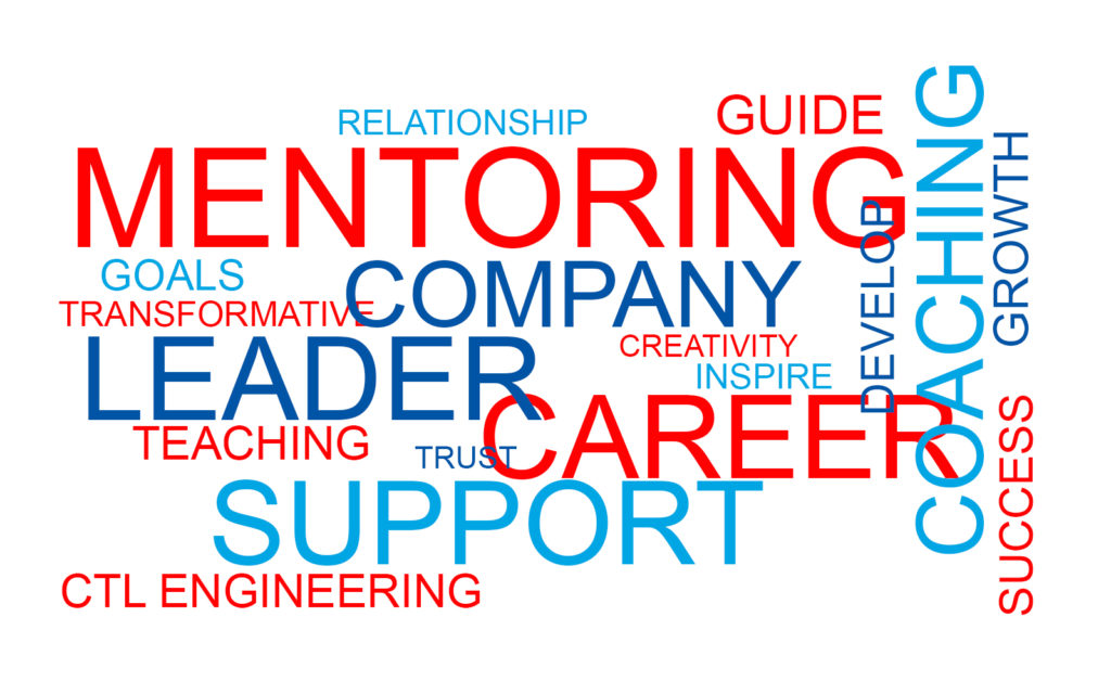 Words that support mentoring, coaching, support, leader, teaching career, goals, growth, success. mentorship program leaders grow support